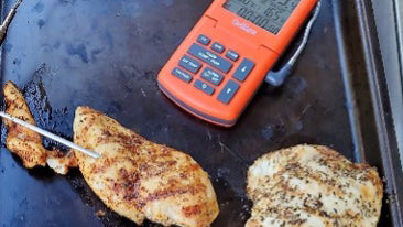 Perfectly brined and grilled Greensbury boneless skinless organic chicken breast and boneless organic pork chops