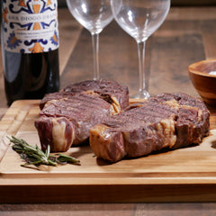 Greensbury grass-fed organic dry aged steaks