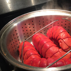 Steamed lobster step