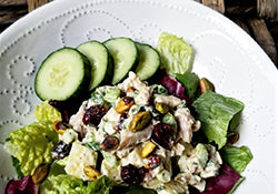 Whole30 Approved Waldorf organic chicken salad