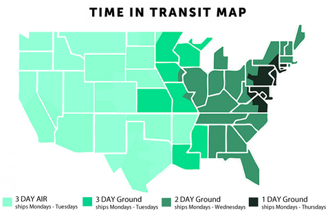 Time in transit map