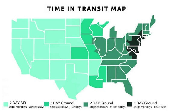 Shipping Transit times for Organic Meat