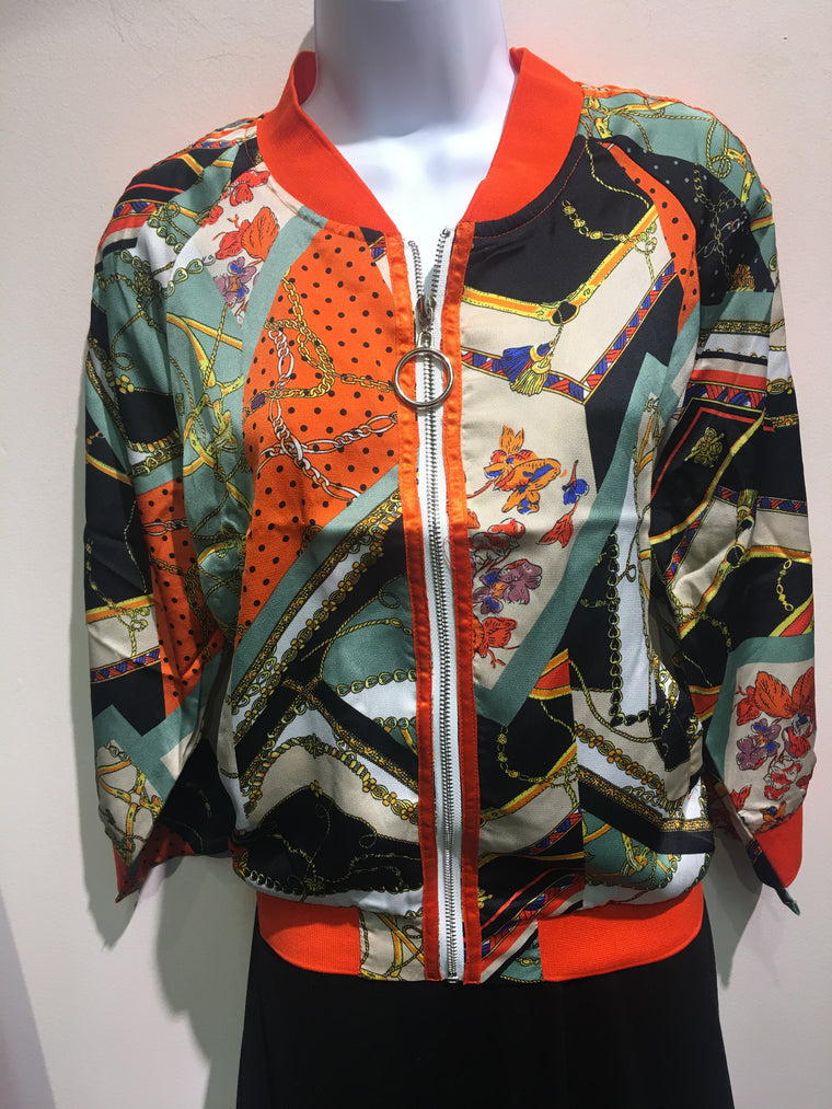Orange Multi Color Jacket