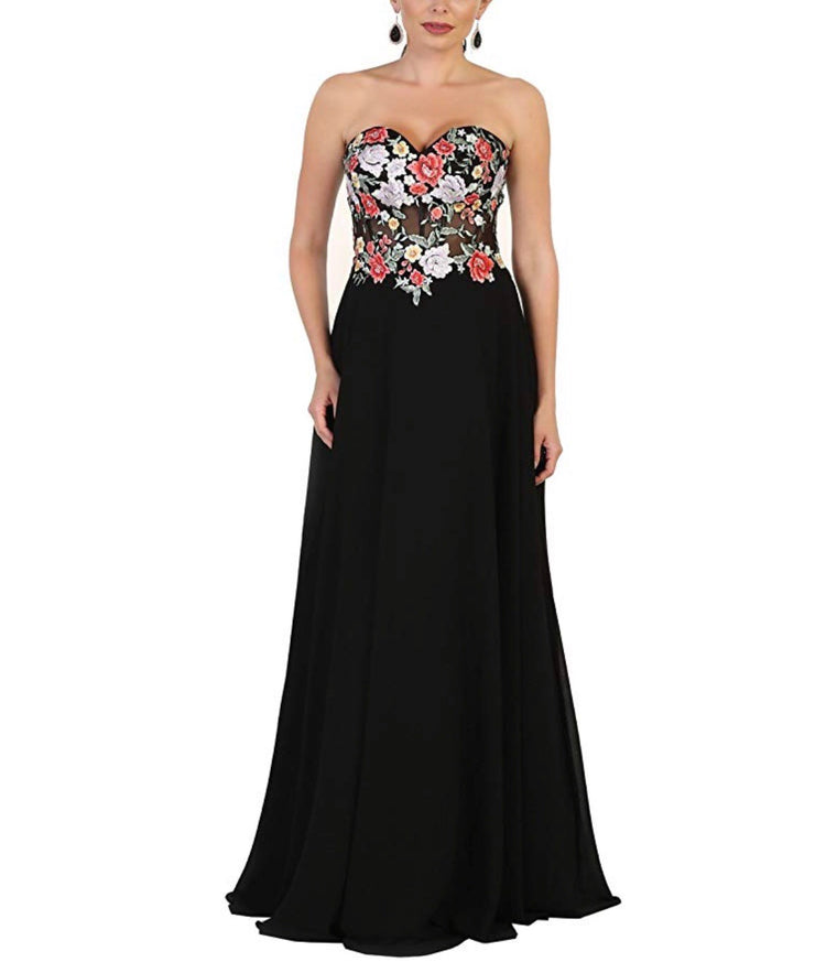 Pure Elegance Strapless Dress
