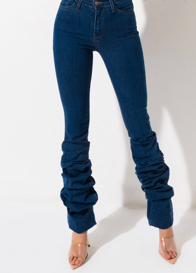 Scrunched Jeans