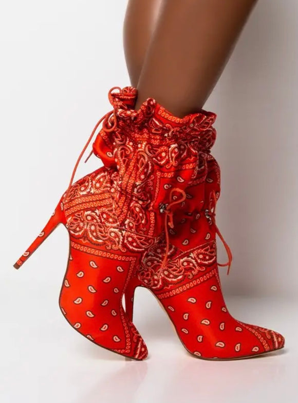 Orange Puff Boot