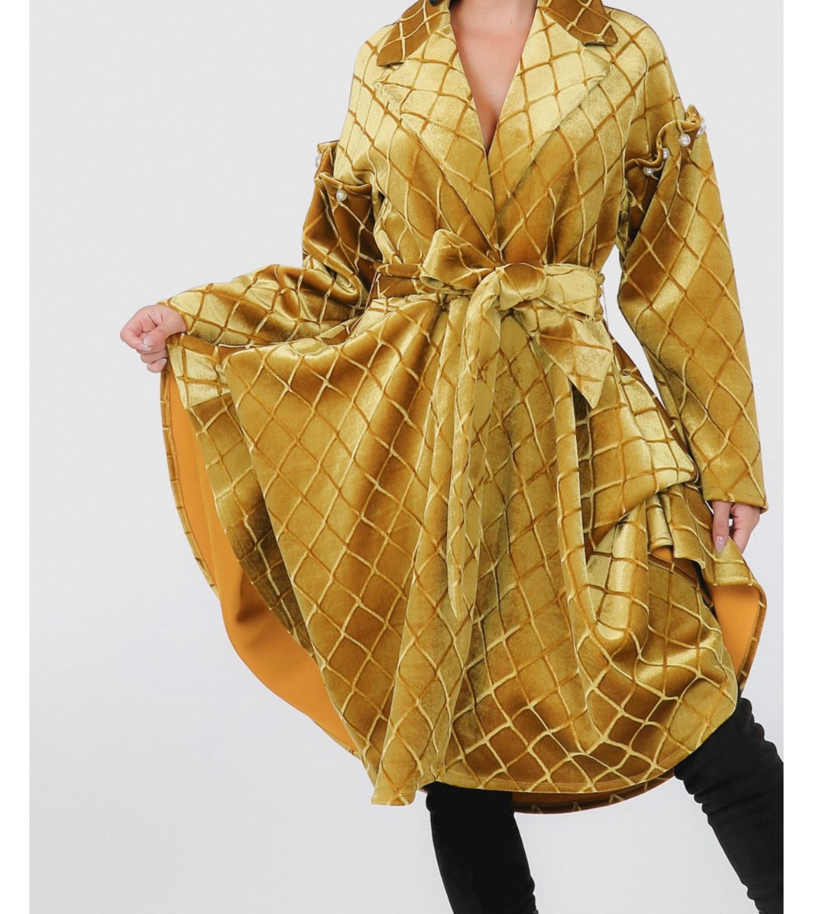 The Gold Flair Coat