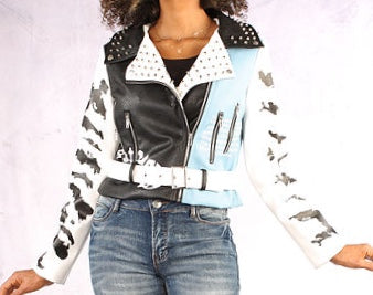 Powder Blue Studded Jacket