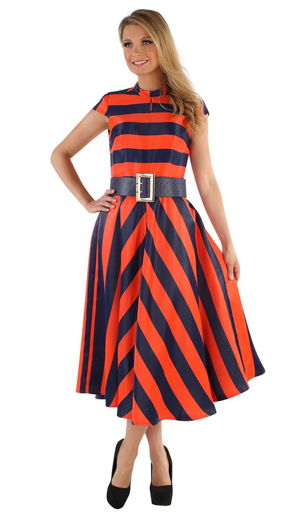 Orange Navy Dress