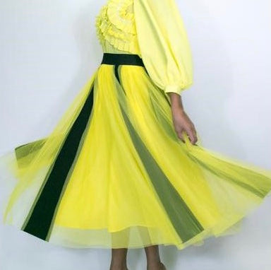 Yellow And Black TuTu Skirt