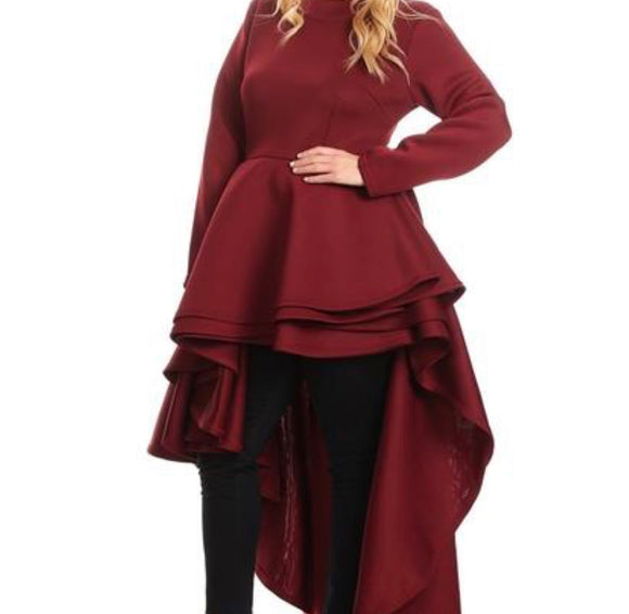 Oh Burgundy Baby Layer Shirt