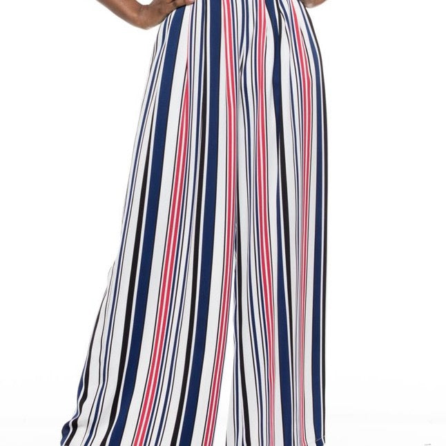 Multi Color Wide Leg Pants