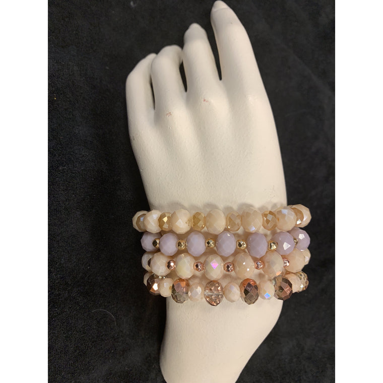 Assorted Clear Beads Bracelet
