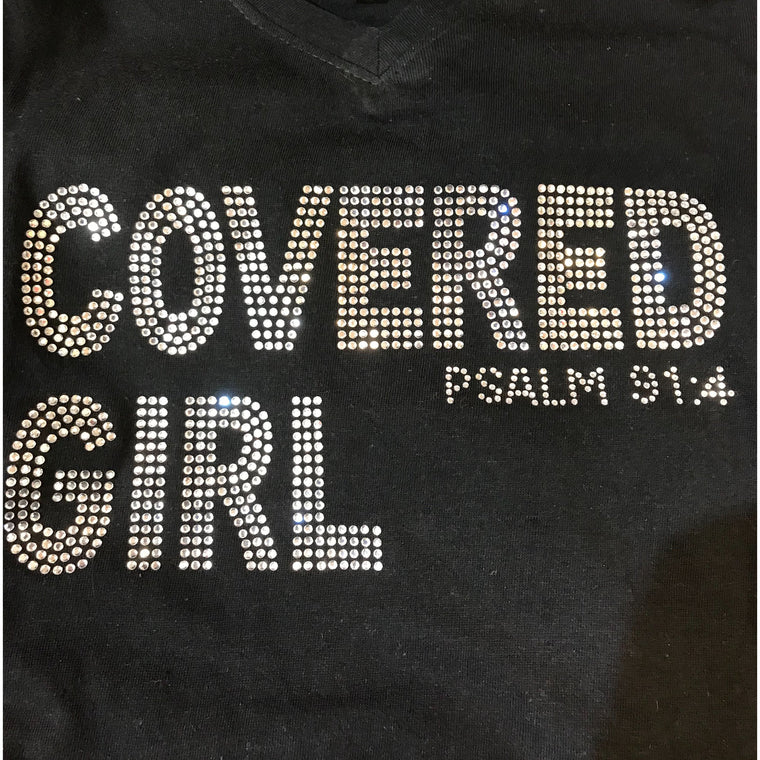 Covered Girl T shirt V-Neck