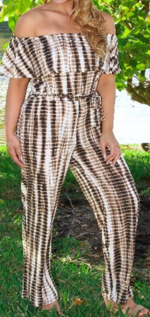 Chocolate Print Jumpsuit