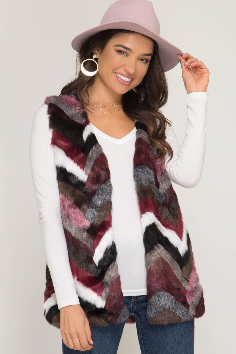 Sleek And Chic Multi Color Vest
