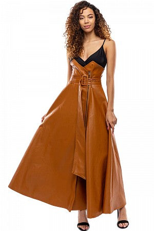 ON THE RUN HIGH WAISTED VEGAN LEATHER