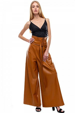 OFF DUTY High waist Vegan leather pants