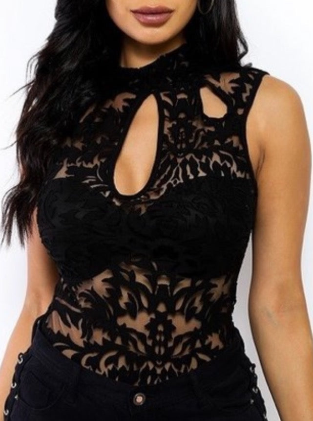 The Black Mesh Bodysuit