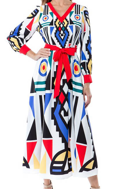 All Geometric Boss Maxi Dress