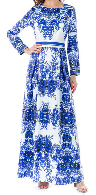 Blue Magic Boss Maxi Dress