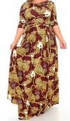 Burgundy Leopard Maxi Dress
