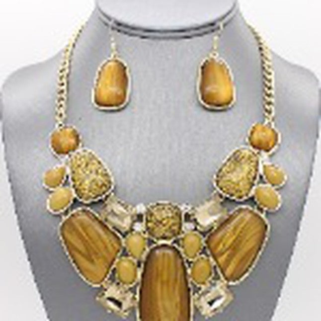 Enamel Art Deco Necklace Set