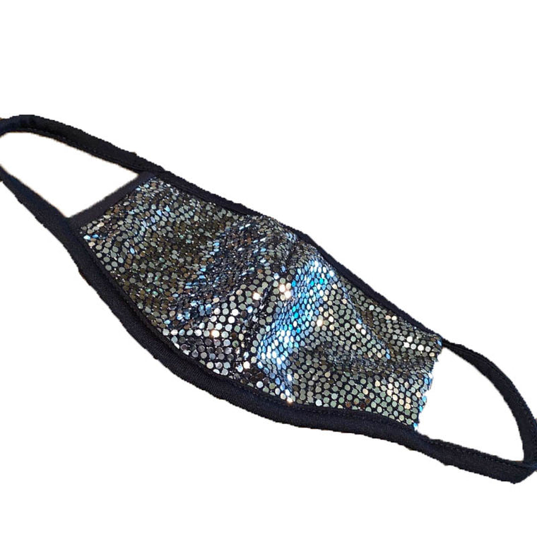 Sequin Silver Face Mask