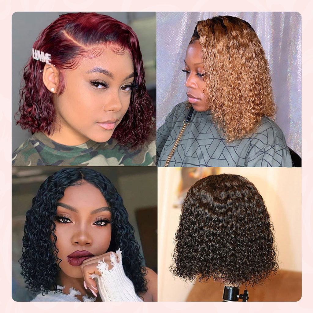 customer review for ombre water wave bob wig