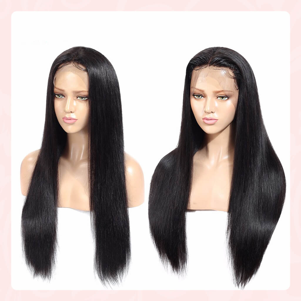 13X4 HD Undetected Swiss Lace Front Wig 100% Human Hair Wigs Pre plucked With Baby Hair