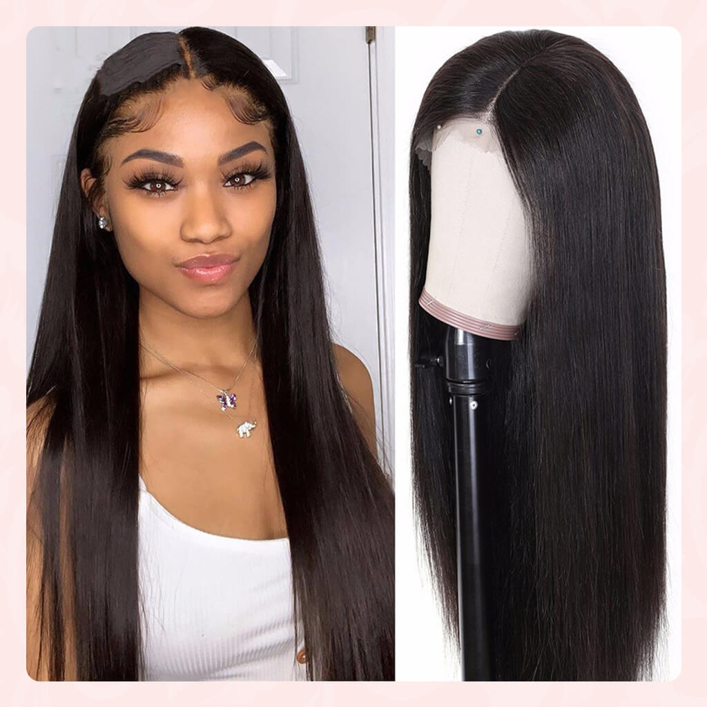 13X4 HD Lace Front Wig 100% Human Hair Wigs