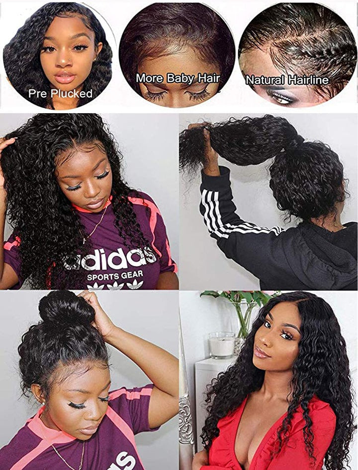 curly lace front human hair wigs