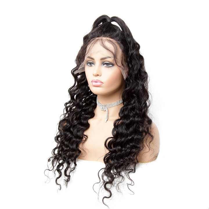 fake scalp lace front human hair wigs with baby hair