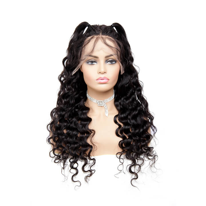 fake scalp lace front human hair wigs