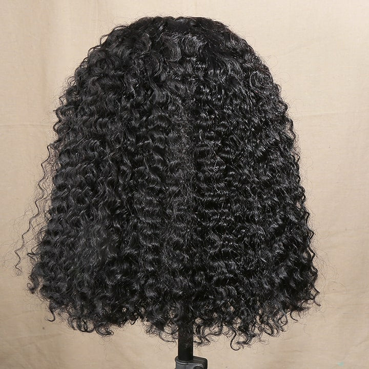 bob curly lace front wigs