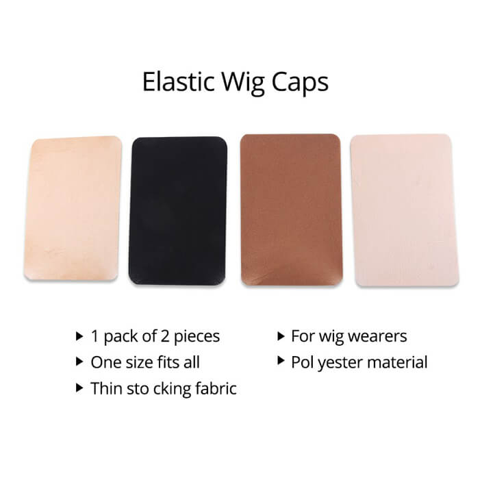 2 PiecesPack Wig Cap Hair net for Weave Hairnets Wig Nets Stretch Mesh Wig Cap for Making Wigs Free Size