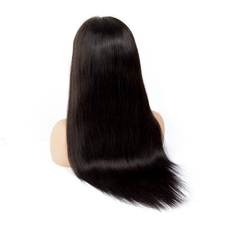 4x4 Lace Closure Wig Pre plucked Brazilian Remy Long Straight Human Hair Wigs For Black Women
