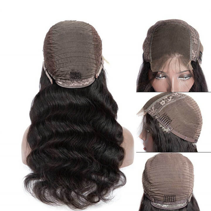 4x4 Lace Closure Wigs Brazilian Body Wave Human Hair Lace Wigs With Baby Hair