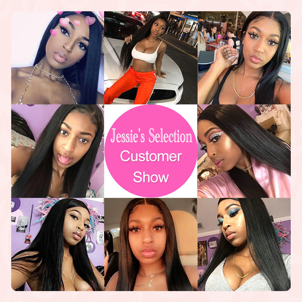 6X6 Lace Closure Wig straight Indian Remy Human Hair Wigs