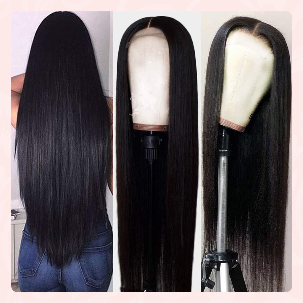 6X6 Lace Closure Wig 100% Real Indian Remy Human Hair Wigs