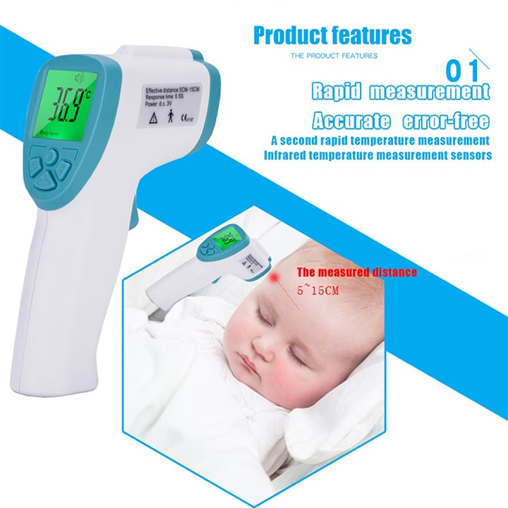 Baby Digital Infrared Kid Thermometer Gun Non-Contact Forehead Temperature Measurement Tool For Baby Adults Multi-use