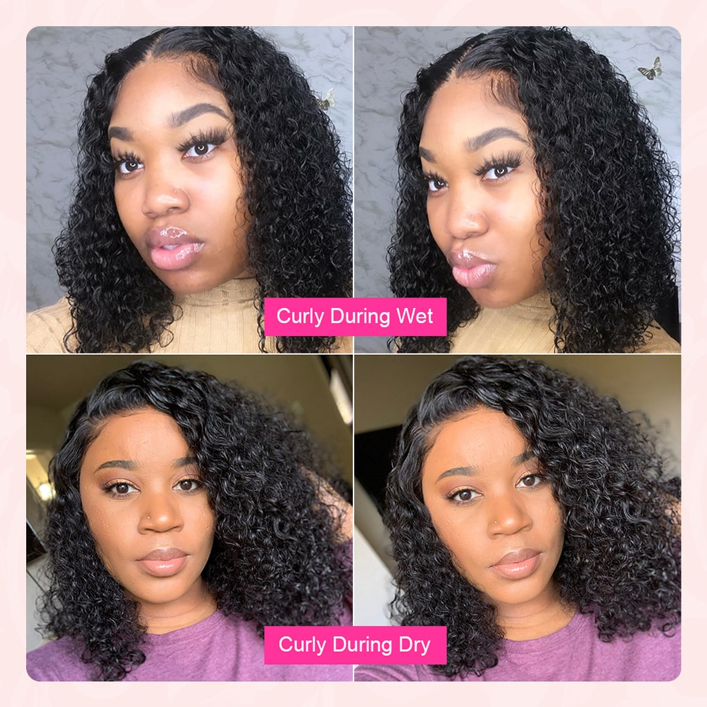 Ombre Honey Blonde Short Human Hair Wigs 1b30 #1b99j Brazilian Curly Lace Front Wigs Burgundy Water Wave Bob Wigs For Black Women #1b