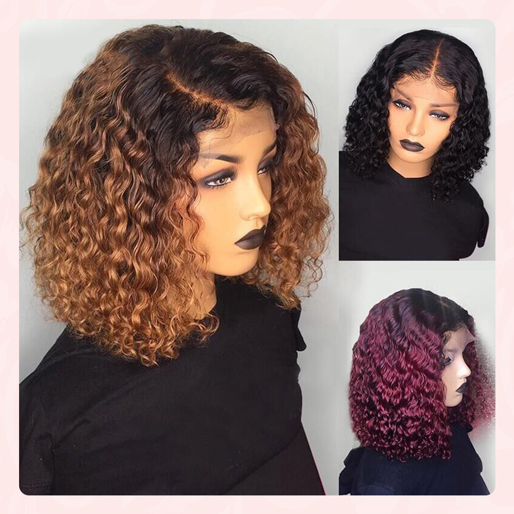ombre water wave bob wig
