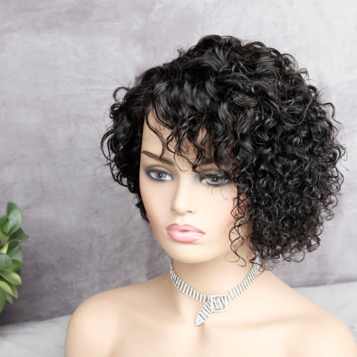 short pixie cut curly wig