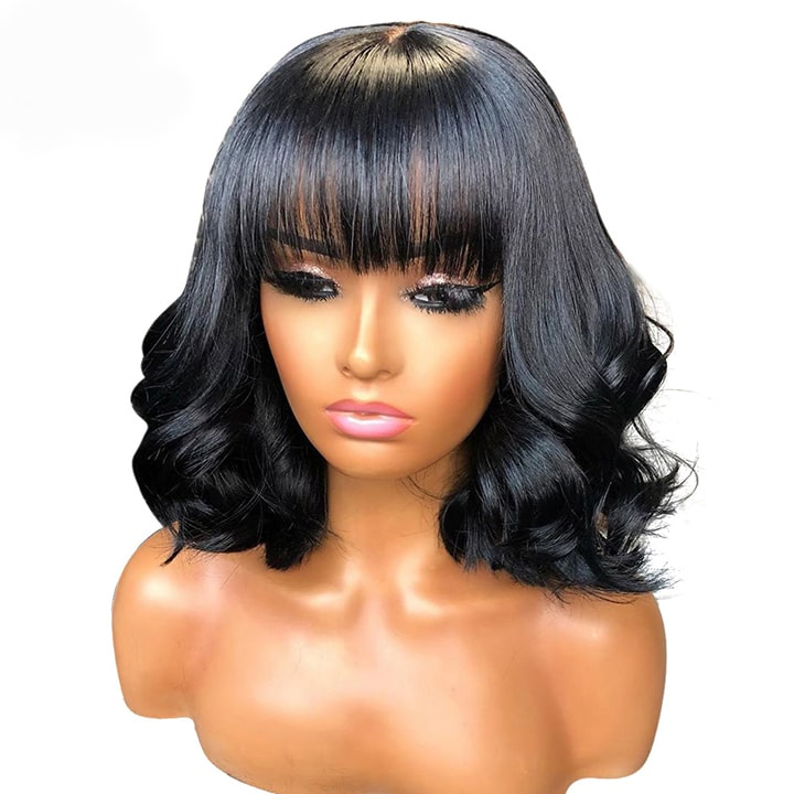 body wave lace front bob wig