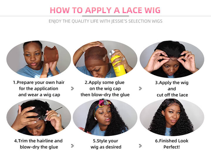 how to use the fake scalp lace wigs?