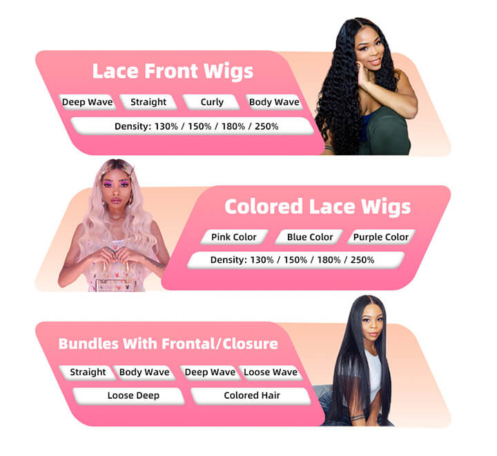 curly human hair wig store online