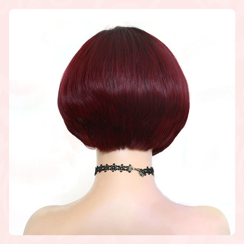 ombre pixie cut human hair lace wigs