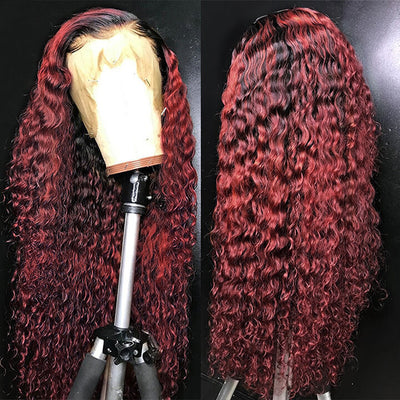 13X6 Fake Scalp Lace Front Wigs 13x4 Pre plucked Glueless Brazilian Curly Human Hair Wigs With Baby Hair