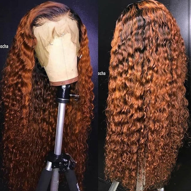 ombre curly human hair wigs